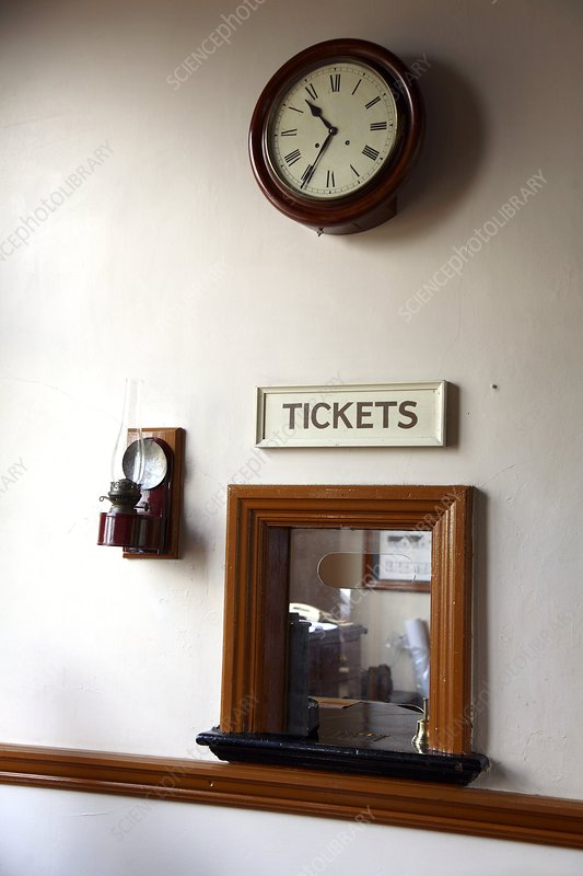Restored railway station ticket office