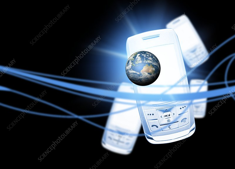 Mobile communication, conceptual artwork