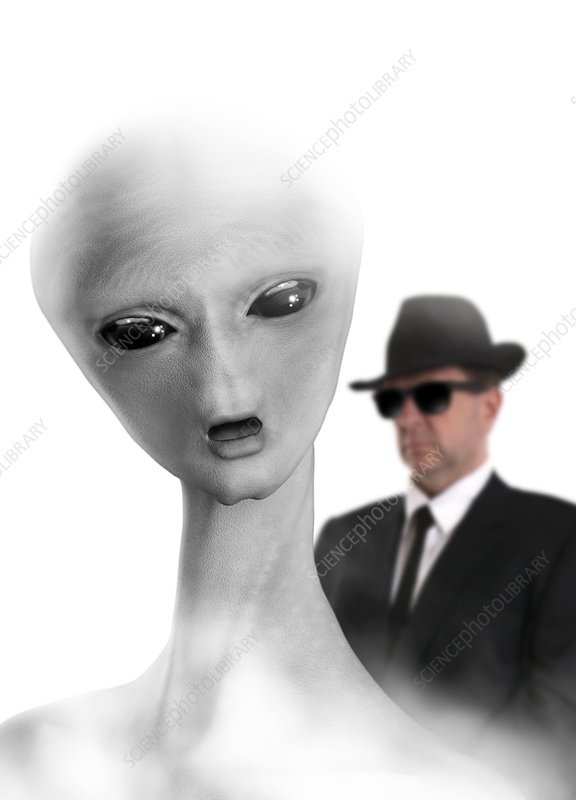 Government UFO inspector, artwork