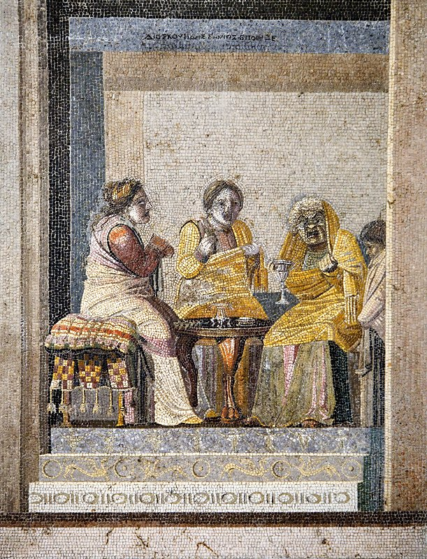 Preparing a love potion, Roman mosaic