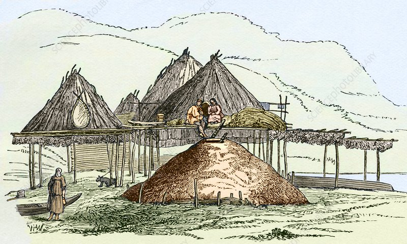 Kamchatka settlement, artwork