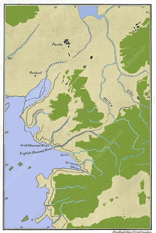 prehistoric sea level map europe