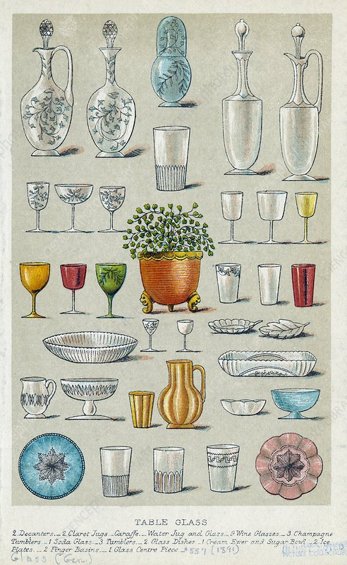 Glassware, historical artwork