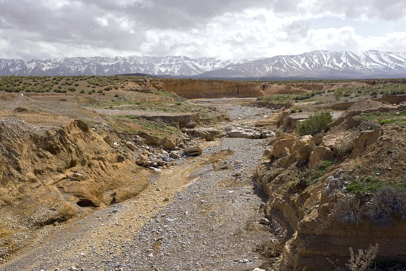 Dry river in Morocco
