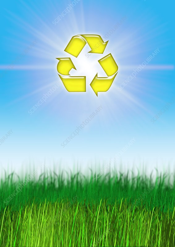 Environmental recycling, conceptual image