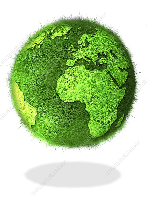 Green planet, conceptual artwork