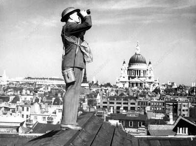 WWII aircraft spotter, London