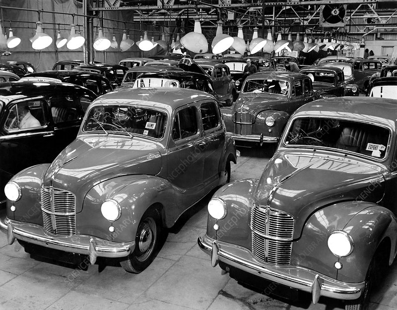 Car production after WW2, Marshall Plan