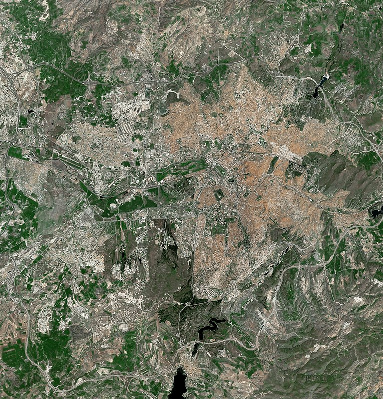 Ankara, Turkey, satellite image