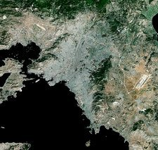 Athens, Greece, satellite image