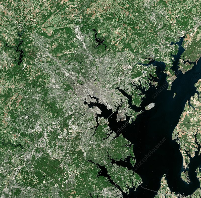 Baltimore, USA, satellite image