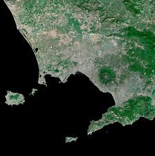 Gulf of Naples, Italy, satellite image