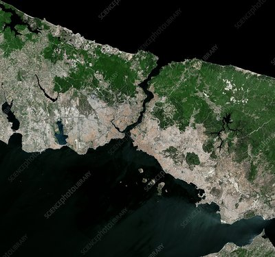 The Bosphorus, Turkey, satellite image