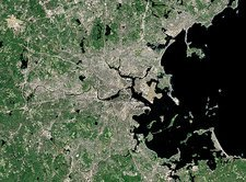 Boston, USA, satellite image