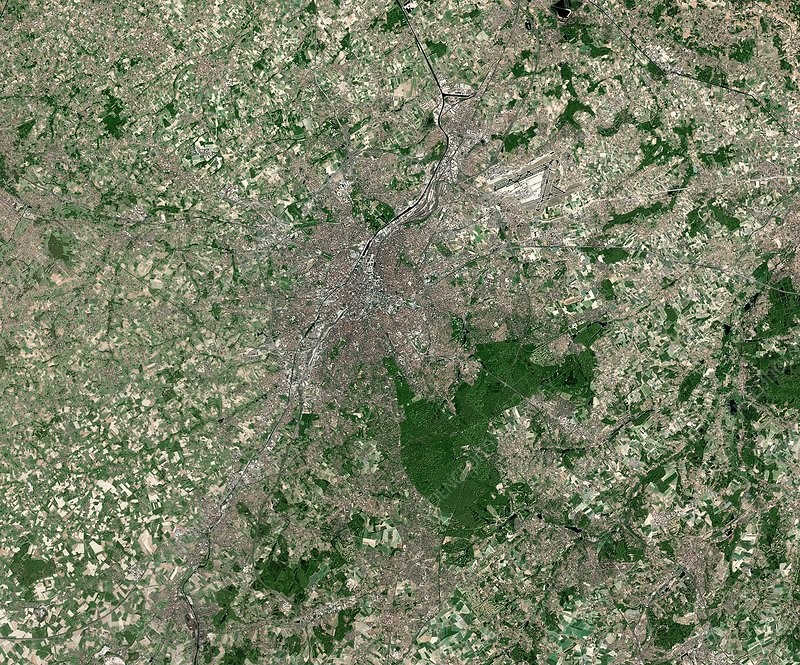 Brussels, Belgium, satellite image