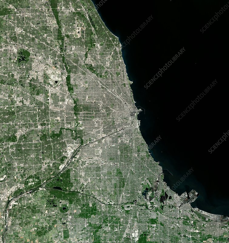 Chicago, USA, satellite image