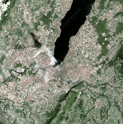 Geneva, Switzerland, satellite image