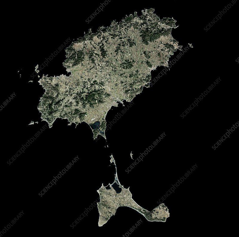 Ibiza, Spain, satellite image