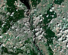 Kiev, Ukraine, satellite image