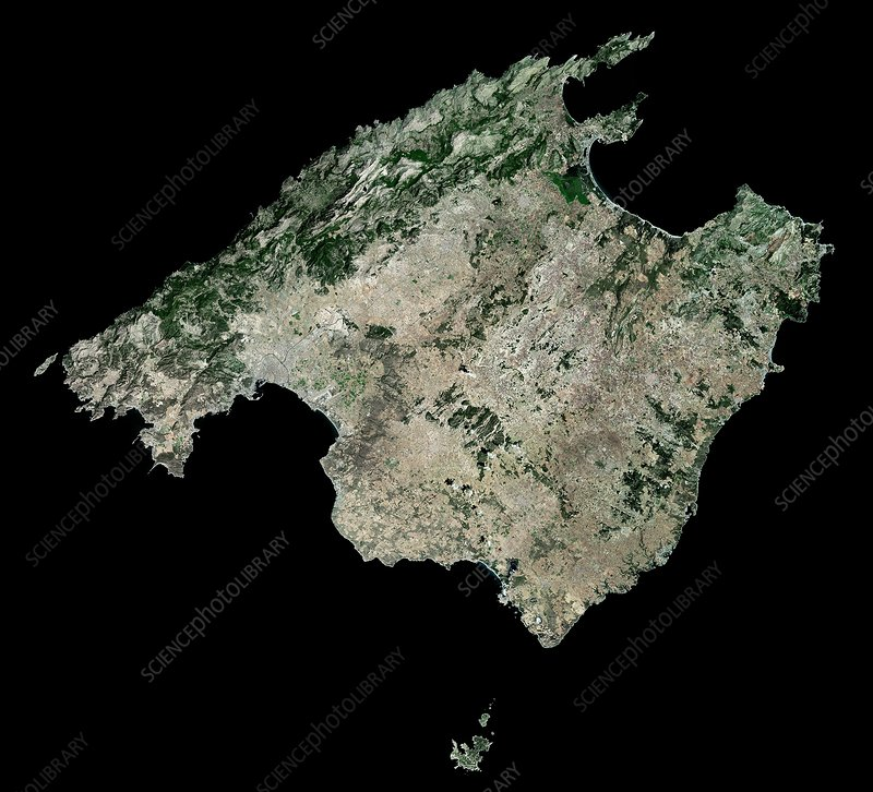 Majorca, Spain, satellite image