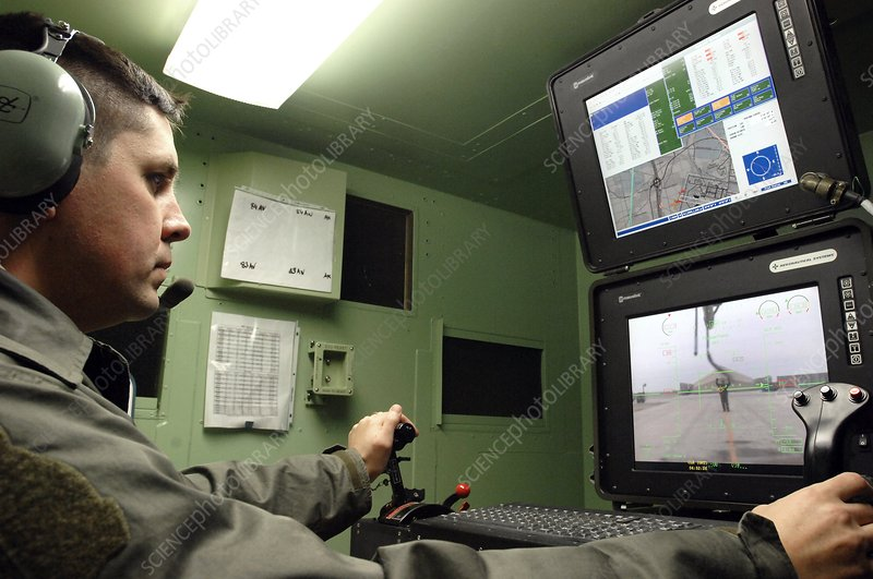 Unmanned aerial vehicle operator, Iraq