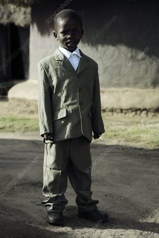 Young boy in a suit, Uganda