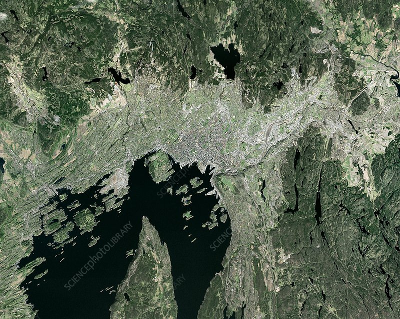 Oslo, Norway, satellite image