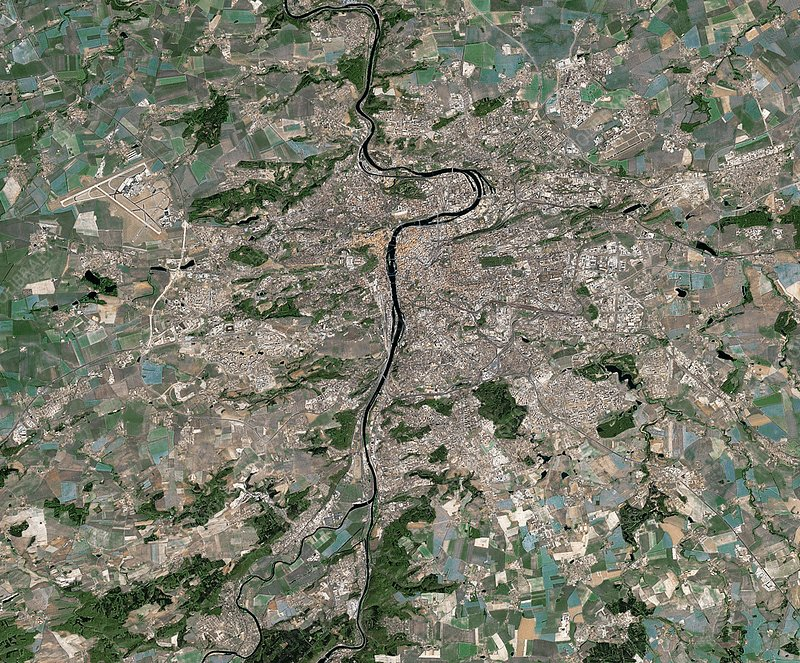 Prague, Czech Republic, satellite image