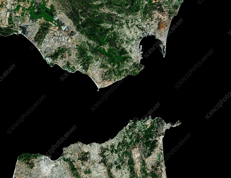 Strait of Gibraltar, satellite image