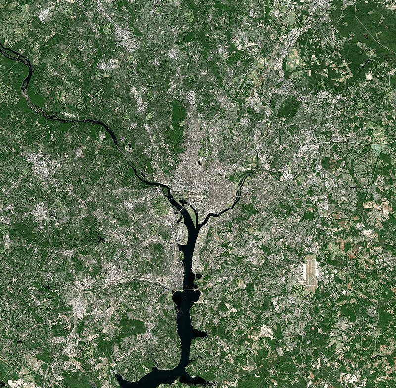 Washington DC, USA, satellite image