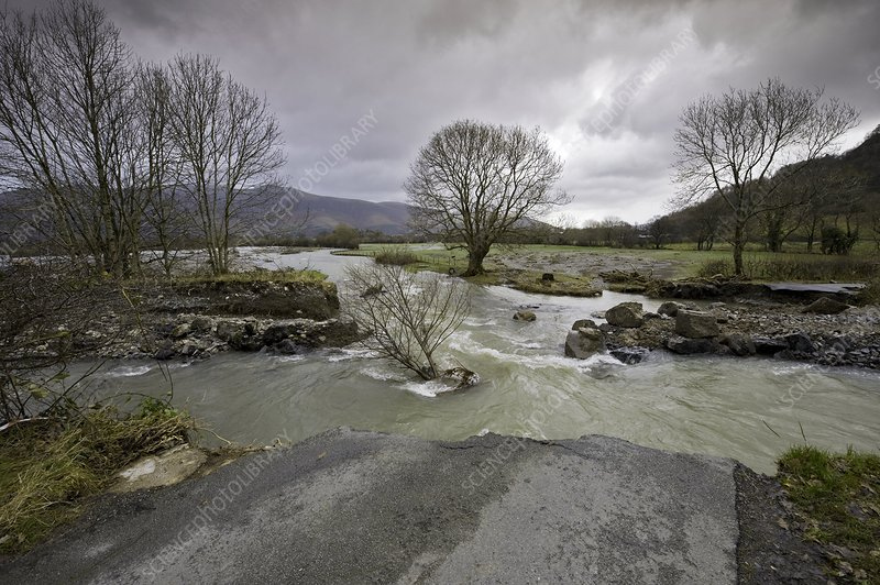 Severe flooding, Lake District, England