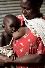 Child breastfeeding, Uganda