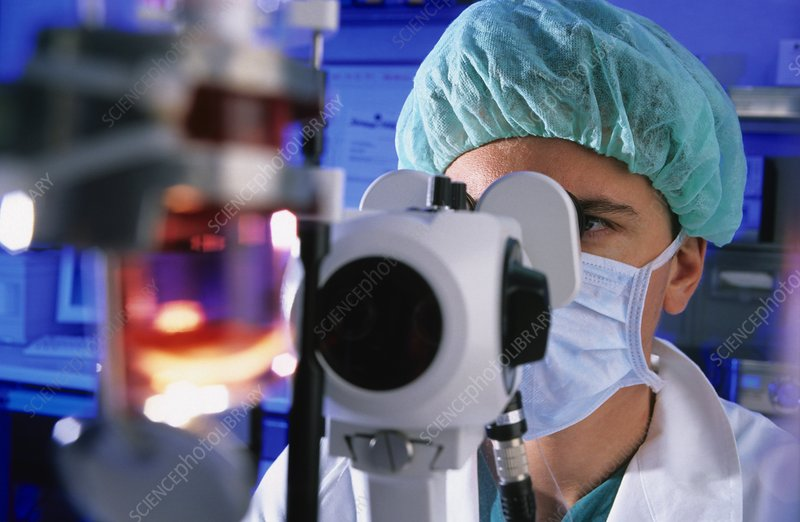 Human eye cornea harvesting
