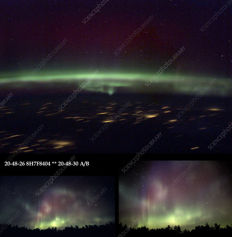 Aurora Borealis from Earth and space