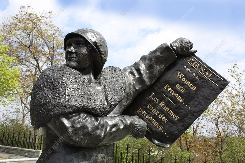 Women's rights statue, Canada - Stock Image C003/8757 ...