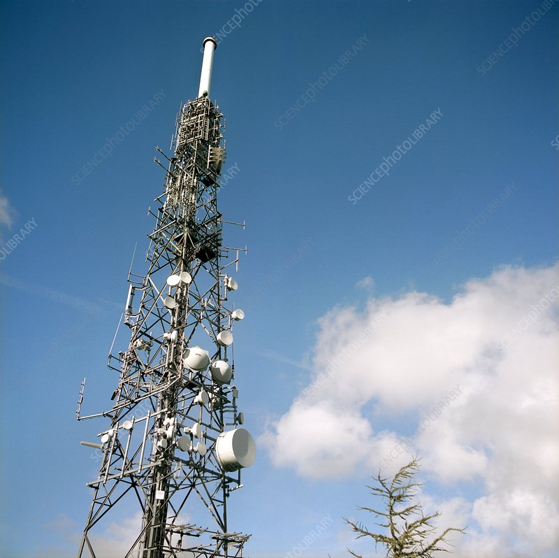 Wrekin transmitting station mast