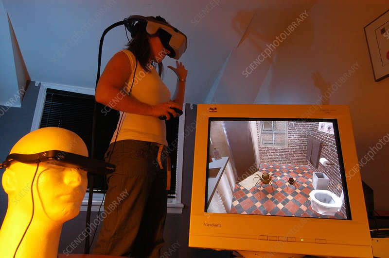 Virtual reality phobia therapy research