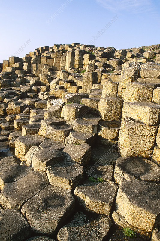 Basalt columns, Northern Ireland