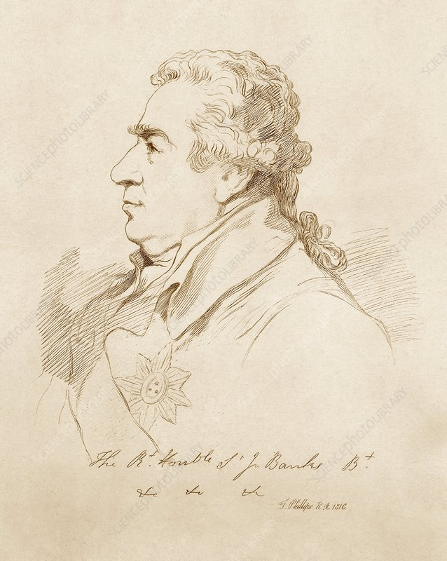 Sir Joseph Banks, British botanist