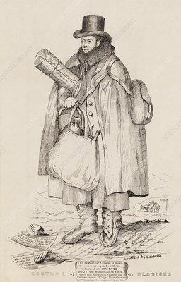 Caricature of William Buckland, geologist