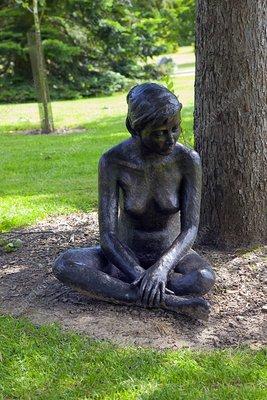 Figurative sculpture of a woman