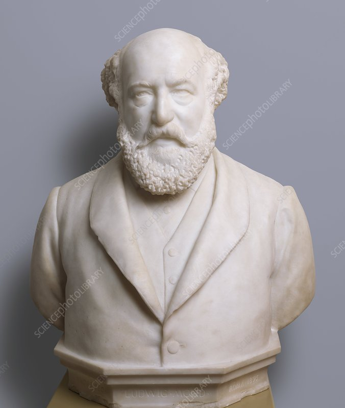 Bust of Ludwig Mond, German chemist