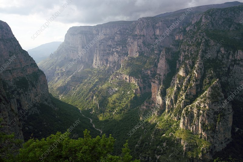 The Vikos Gorge in Greece