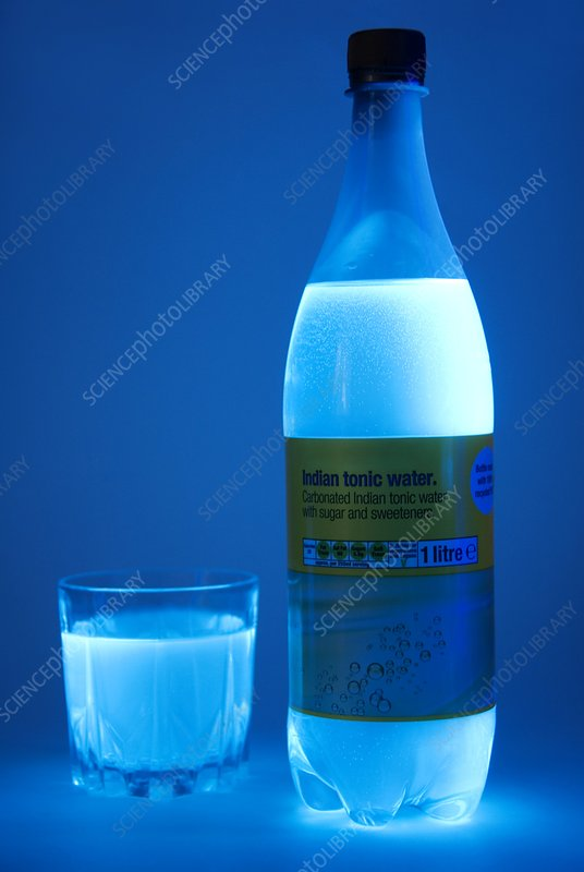Tonic water in UV light