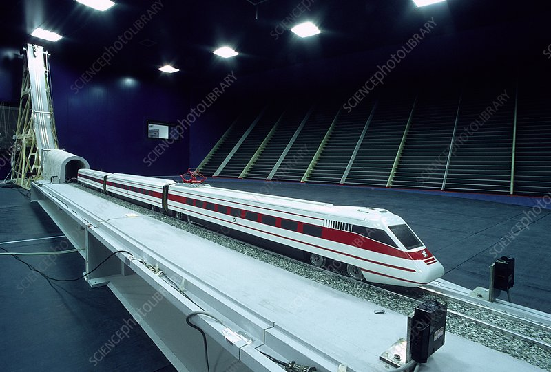 Train wind tunnel test