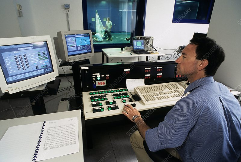 Wind tunnel control room