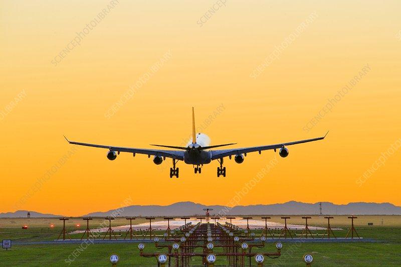 Aeroplane landing, Canada - Stock Image - C004/1634 - Science Photo