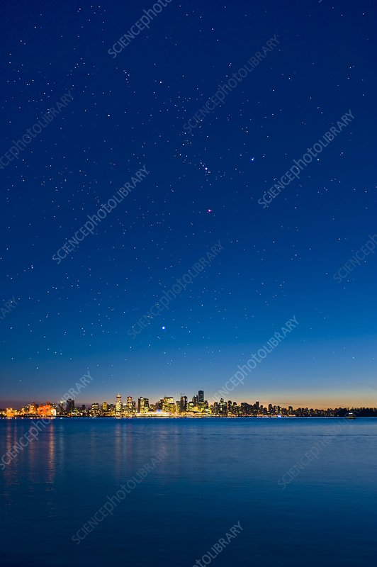 Stars over Vancouver, Canada