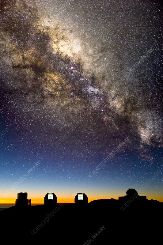 Mauna Kea telescopes and Milky Way