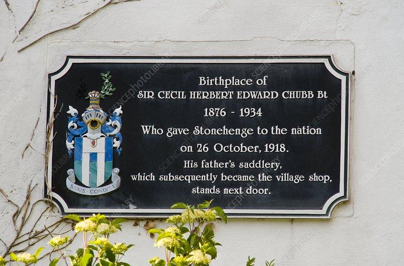 Stonehenge information plaque